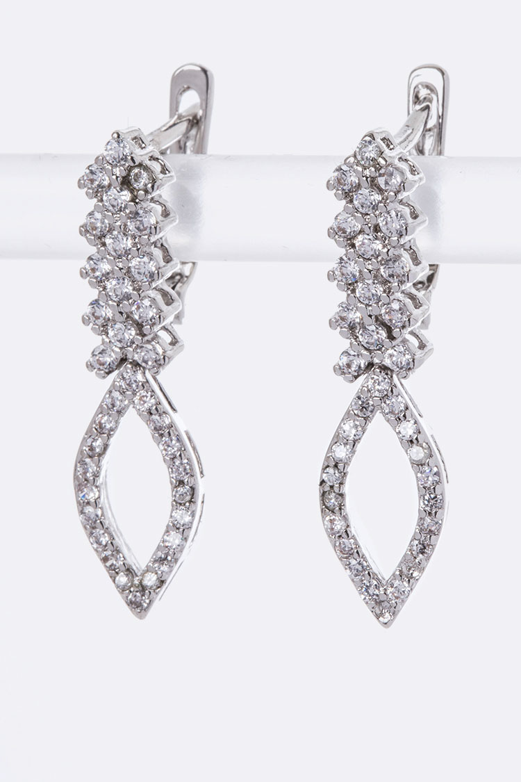 CZ Dangling Drop Earrings