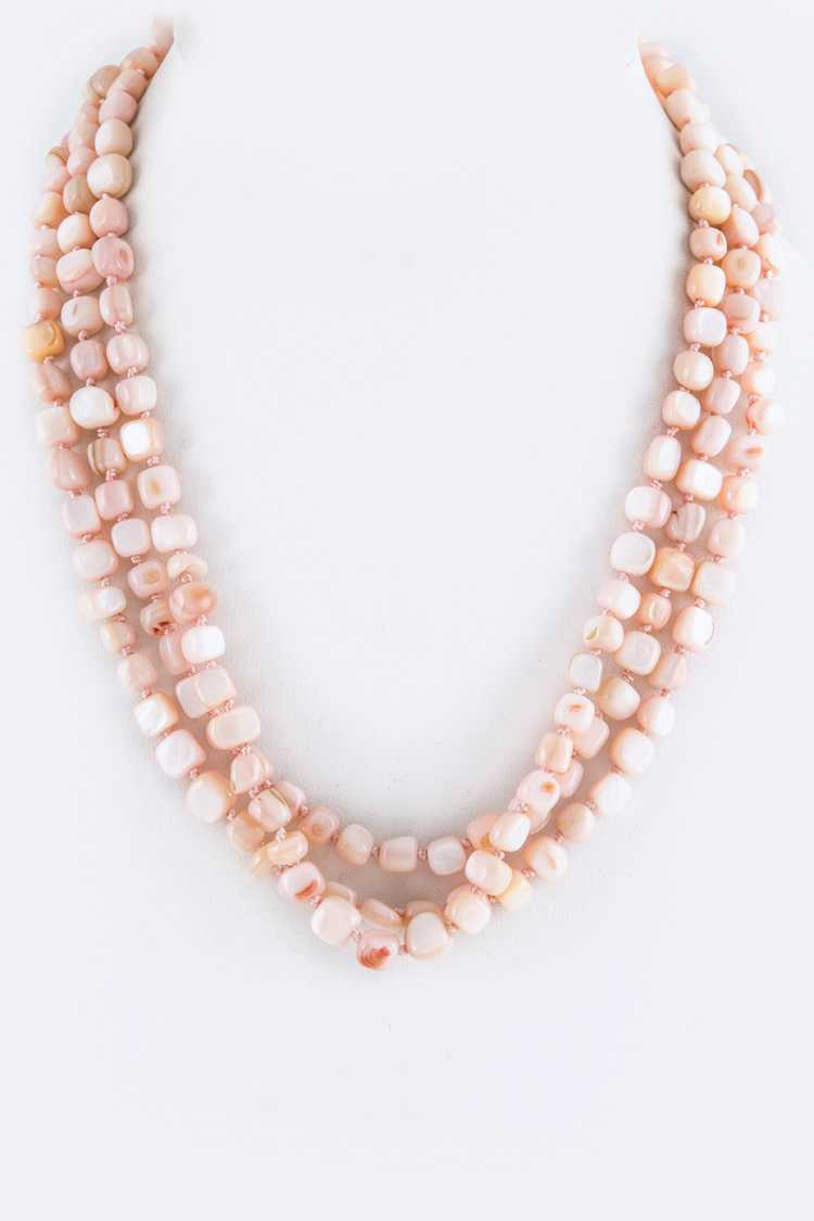 Semi Precious Beads Layer Necklace