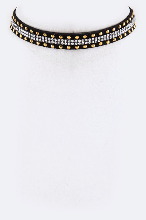 Mix Studded Choker Necklace