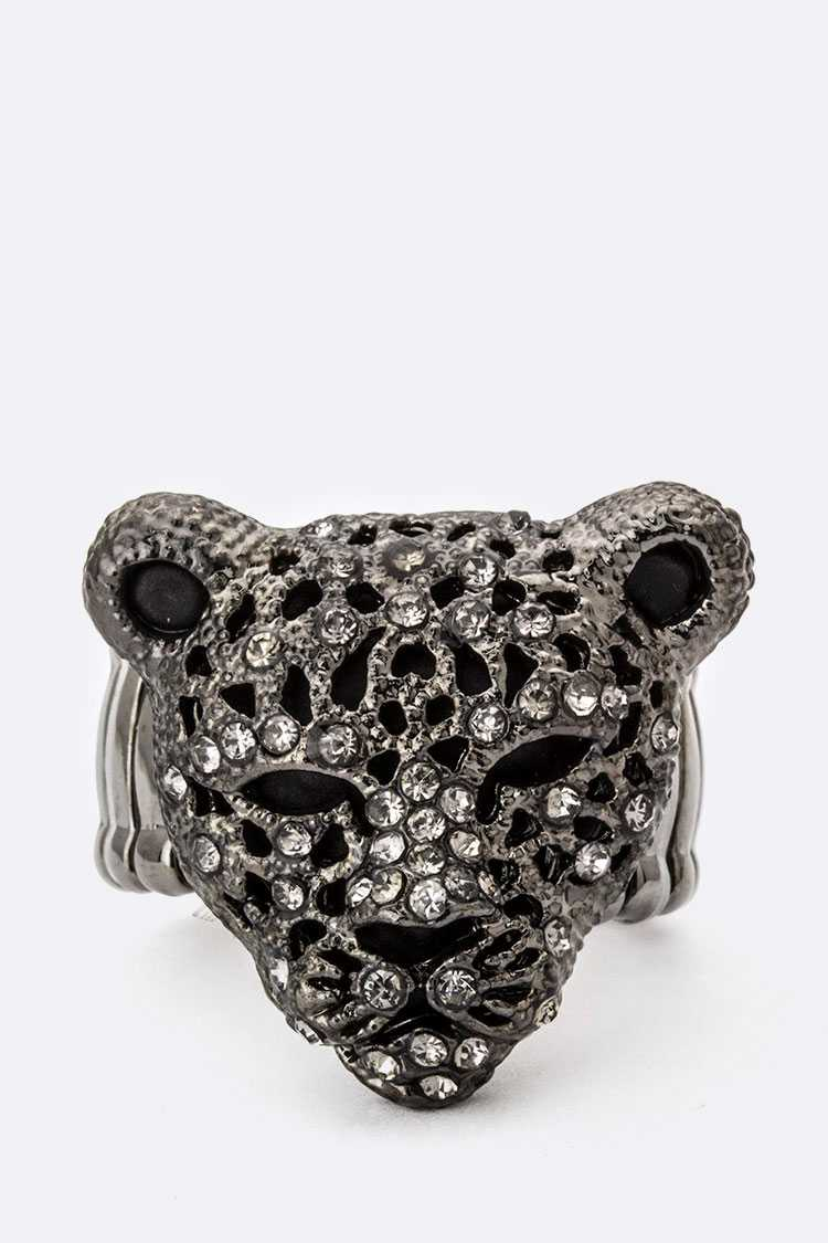 Crystal Cheetah Stretch Ring