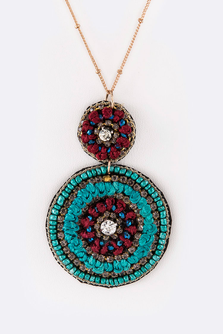 Beaded Hand Craft Pendant Iconic Necklace