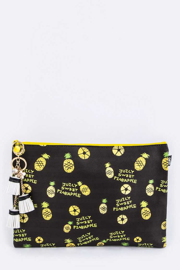 Pineapple Pattern Tassel Pouch