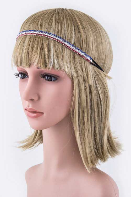 US Color Crystal Stretch Headband