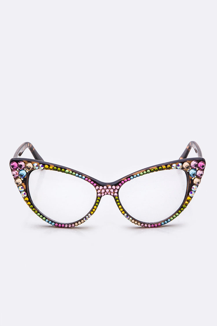 Austrian Crystal Iconic Cat Eye Optical Glasses