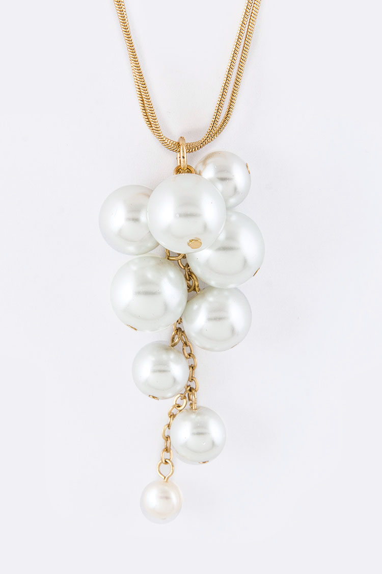 Pearl Bubble Pendant Necklace