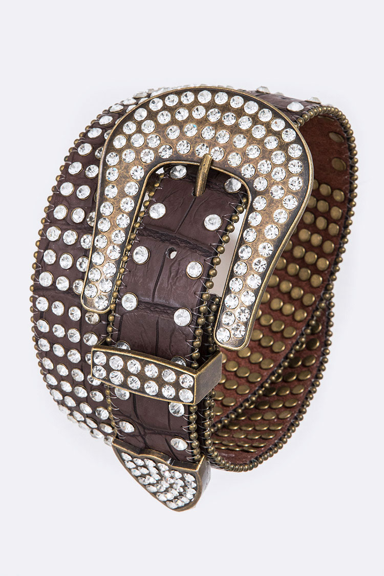 Crystal Embedded Belt