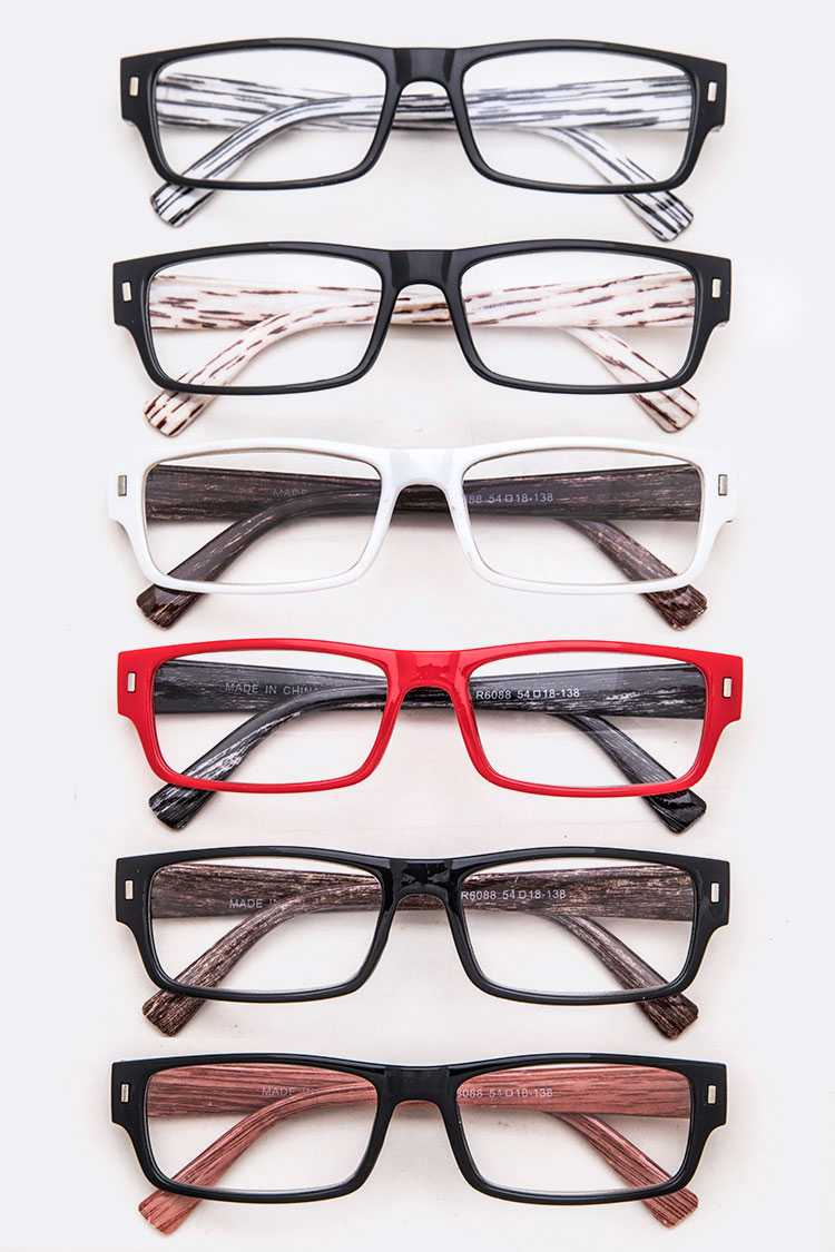 Wooden Temple Mix Color Reading Glasses