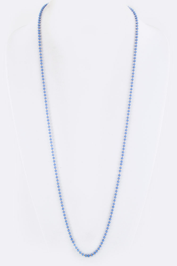 "36"" Long Petite Beads Necklace"
