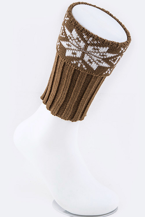 Snowflake Knit Boot Toppers