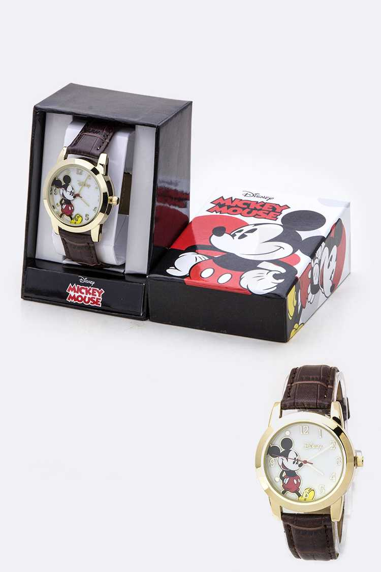 Croc Embossed Mickey Watch