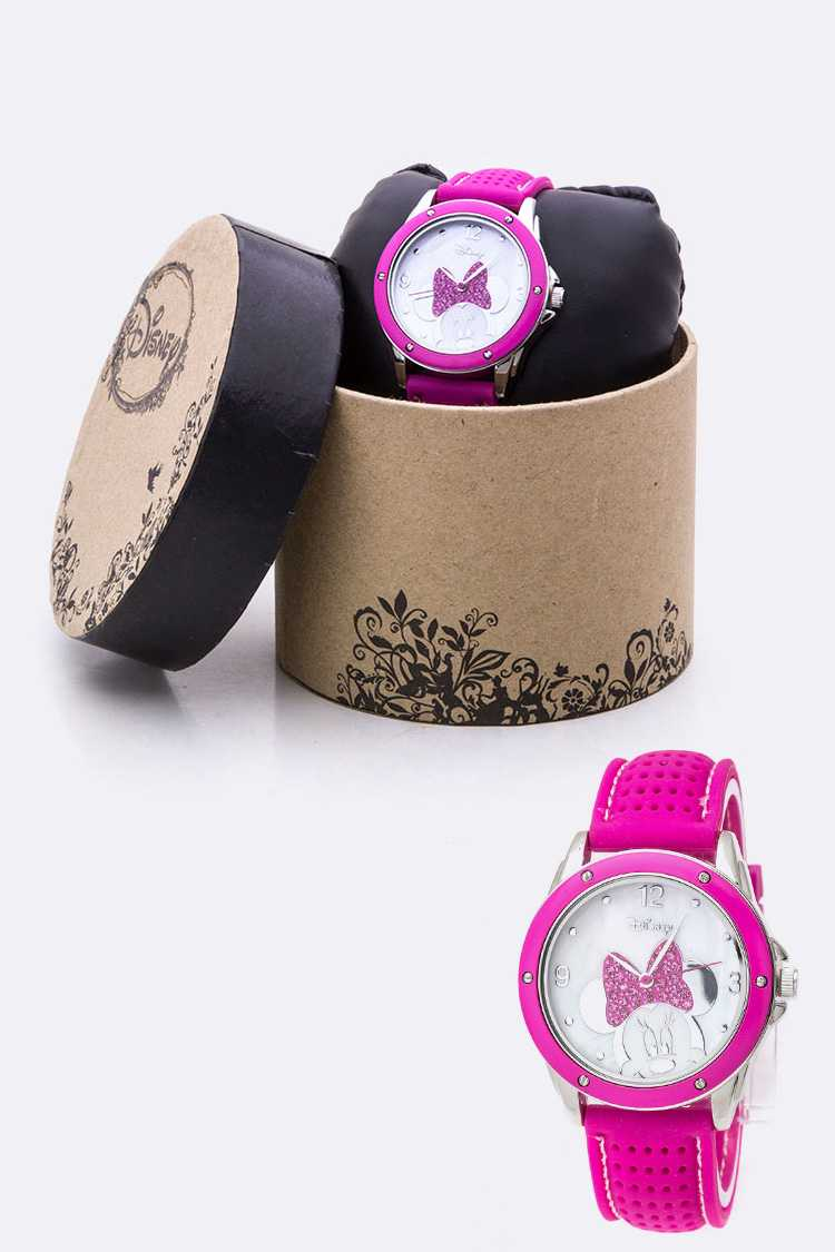 Crystal Minnie Perforated Jelly Watch