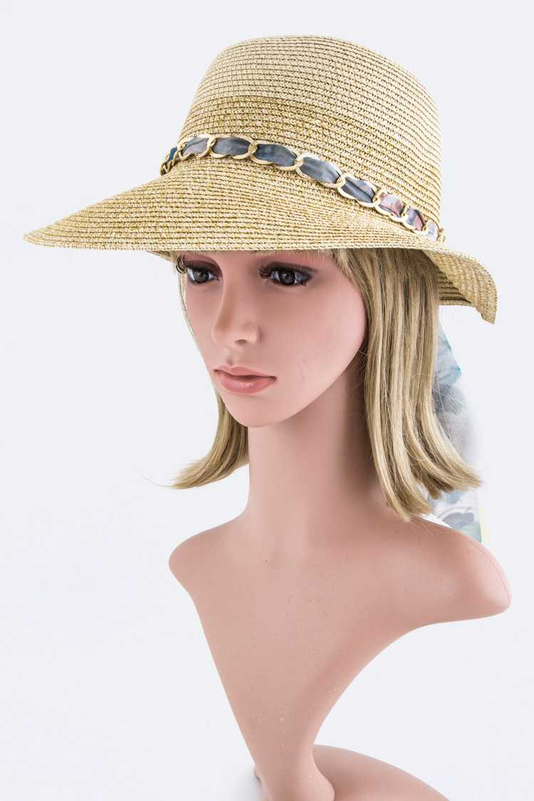 Laced Scarf Band Summer Hat