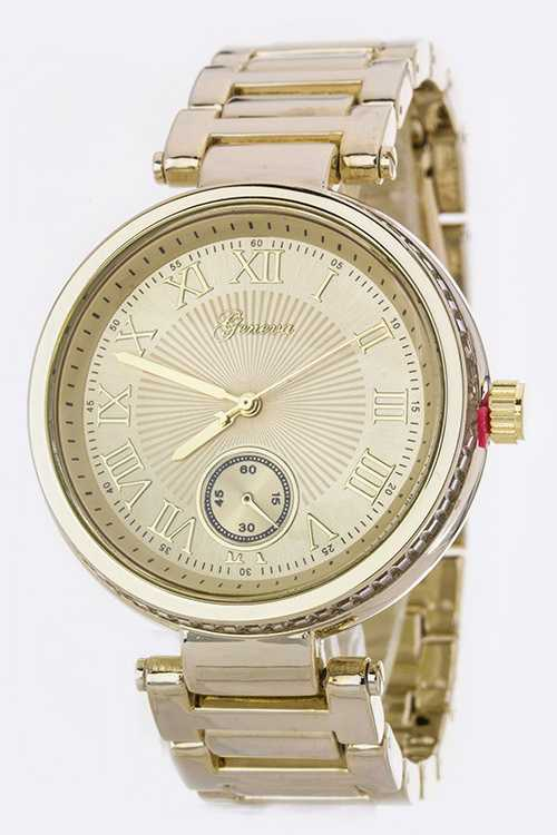 Roman Number Dials Fashion Chrono Watch
