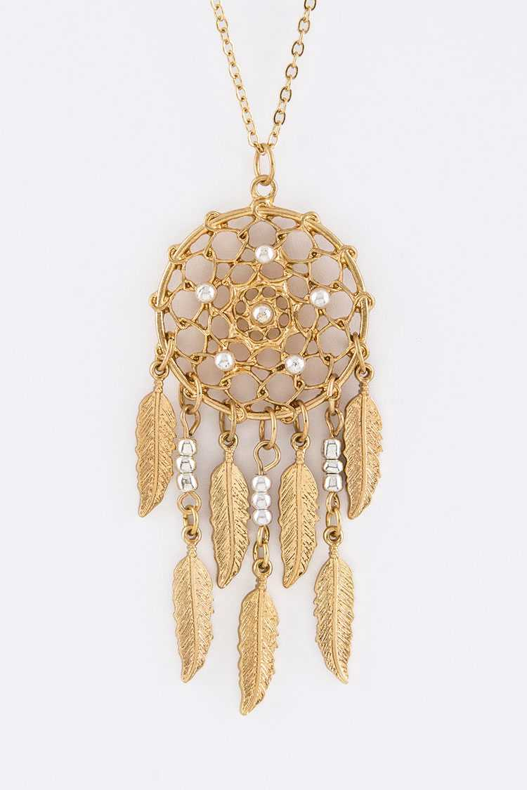 Dreamcatcher Pendant Necklace Set