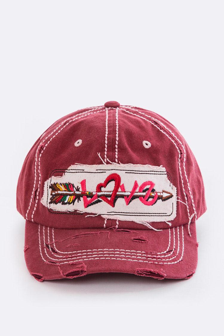 LOVE Vintage Washed Cap