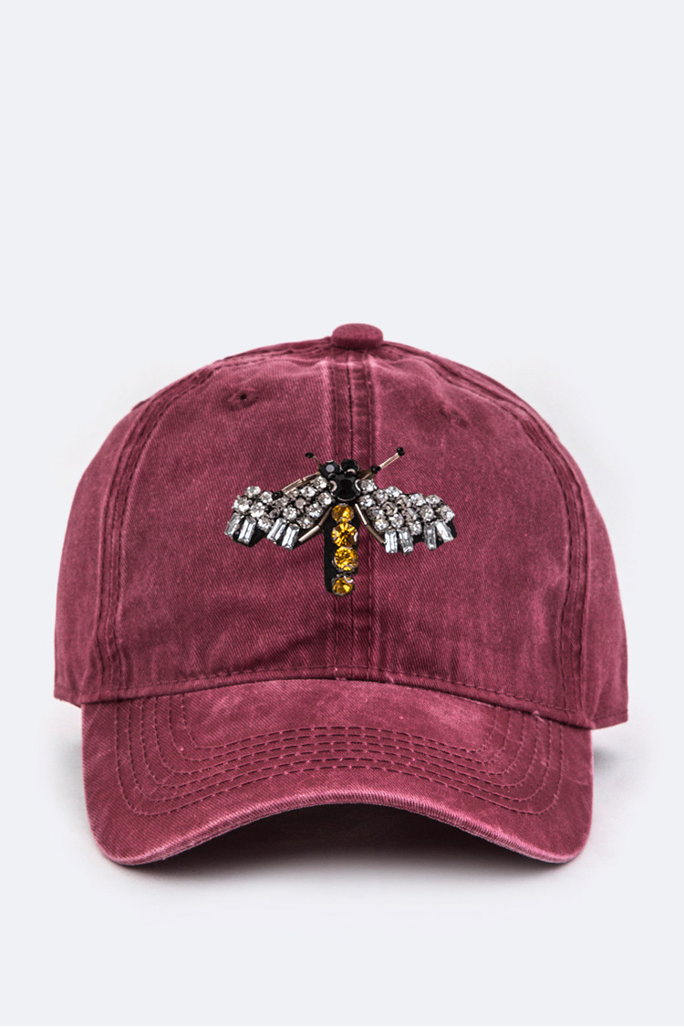 Crystal Bee Iconic Washed Cotton Cap