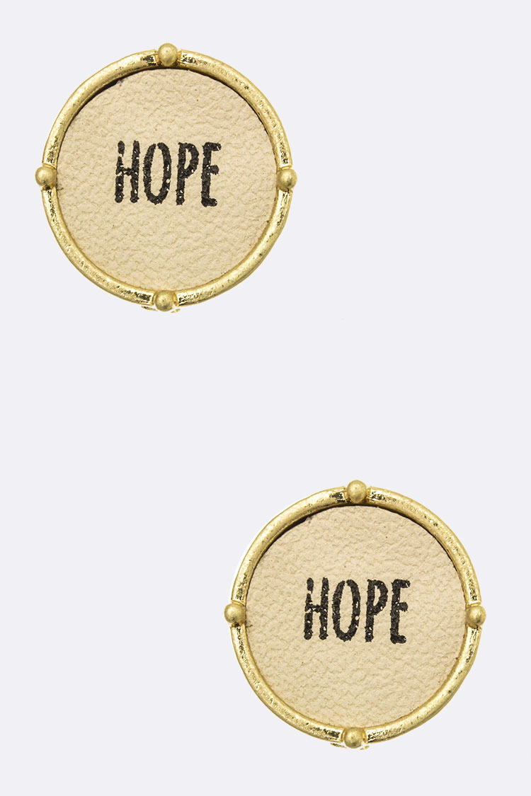 HOPE Round Stud Earrings