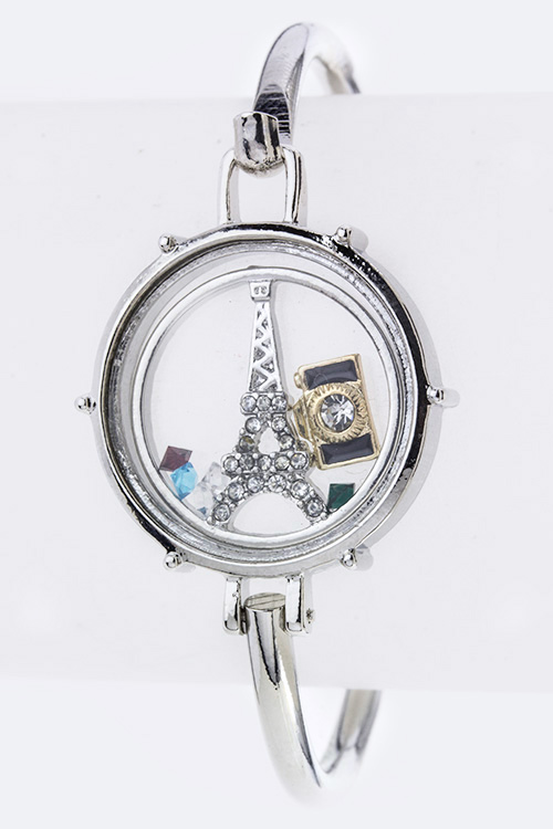 Paris Floating Charms Iconic Bangle
