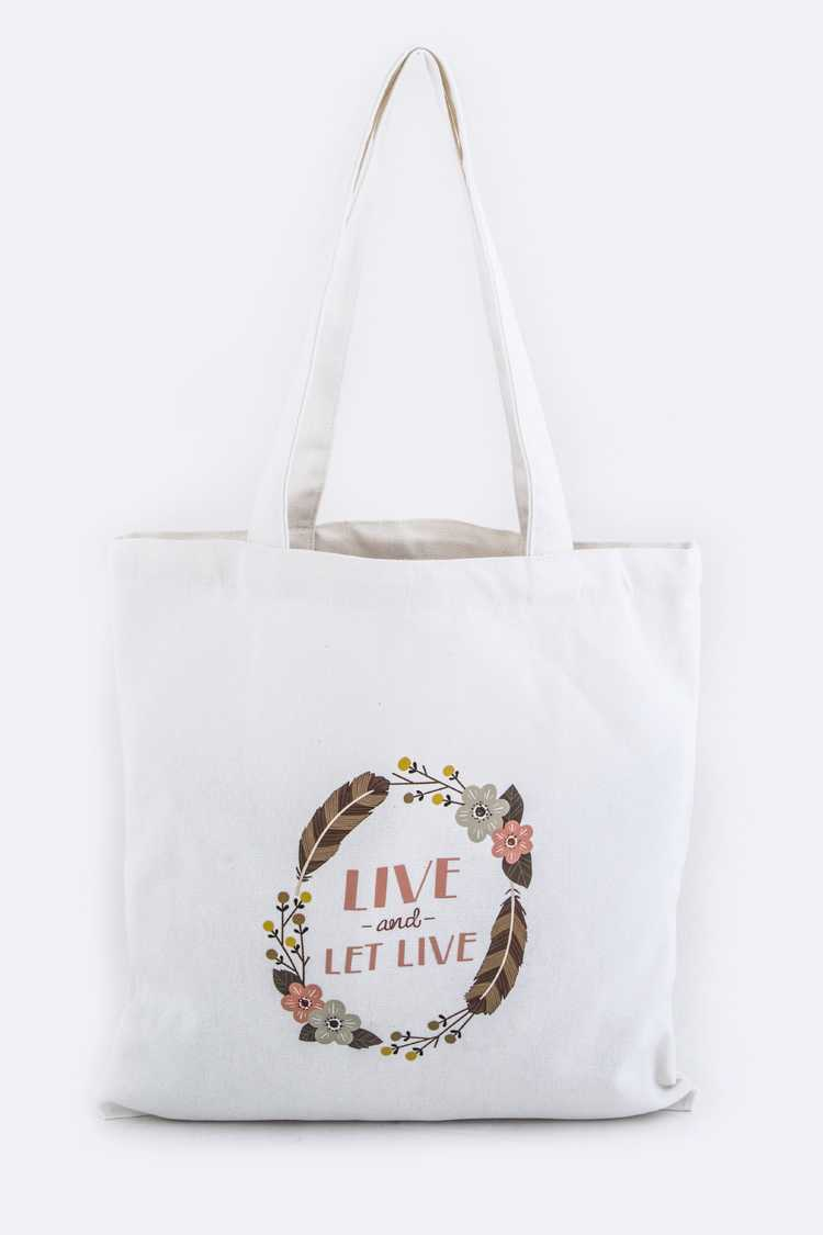 LIVE & LET LIVE Fashion Tote