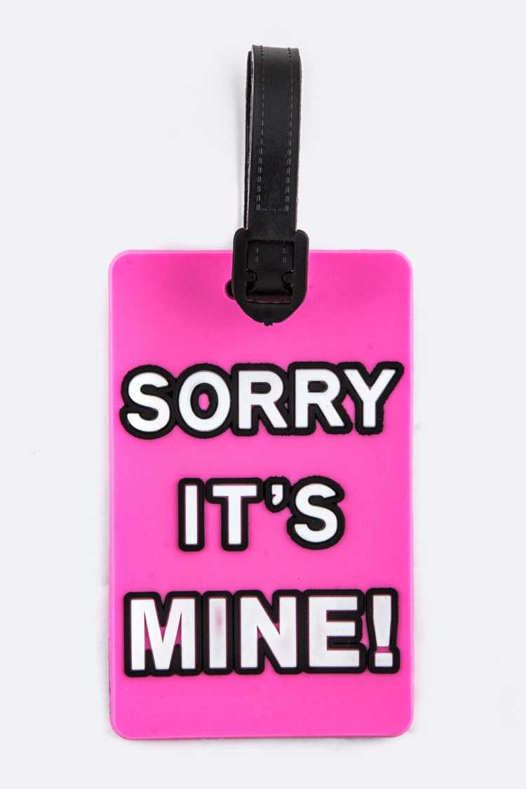 Sorry It's Mine Jelly Bag & Luggage Tag