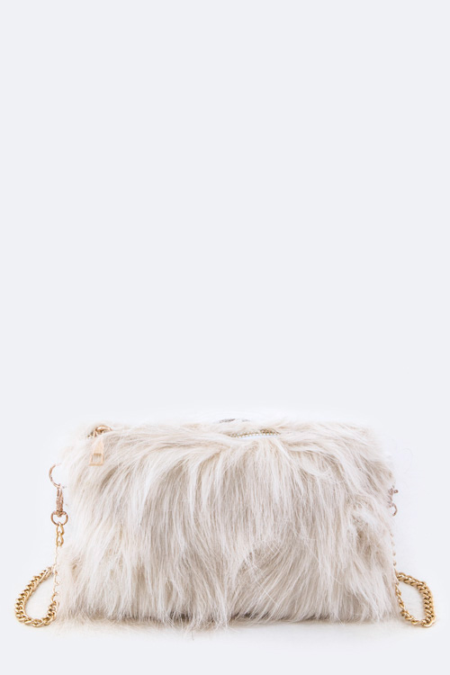 Fur Crossbody Swing Bag