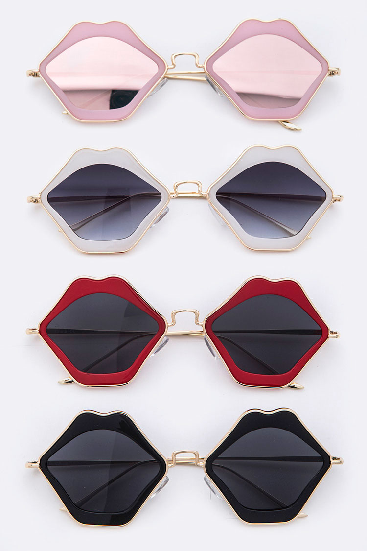 Iconic Lips Shape Sunglasses