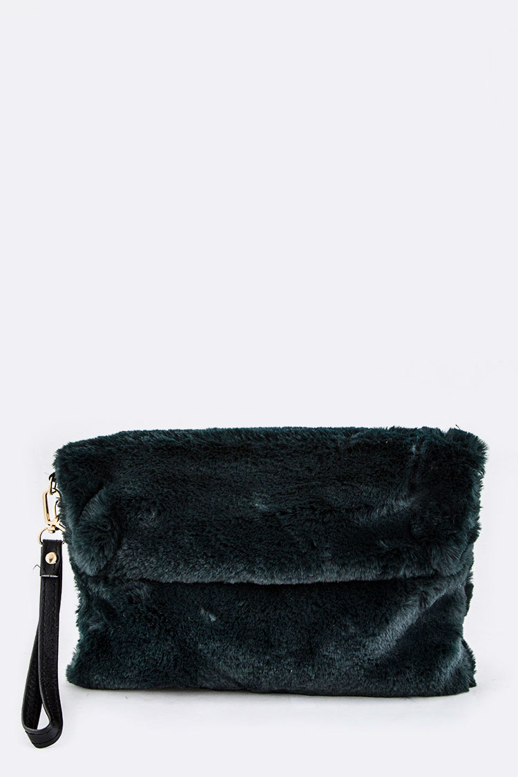 Soft Fur Wristlet Clutch