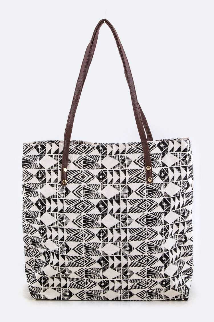 Tribal Pattern Fashion Canvas Tote