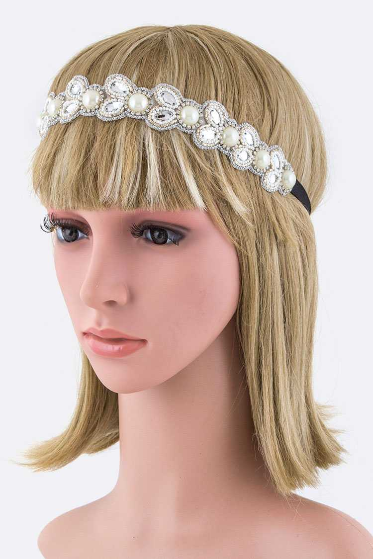 Pearls & Crystals Stretch Headband
