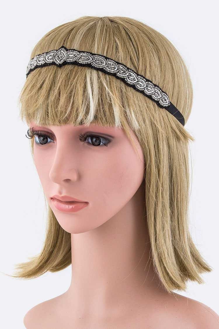 Mix Beads Stretch Headband