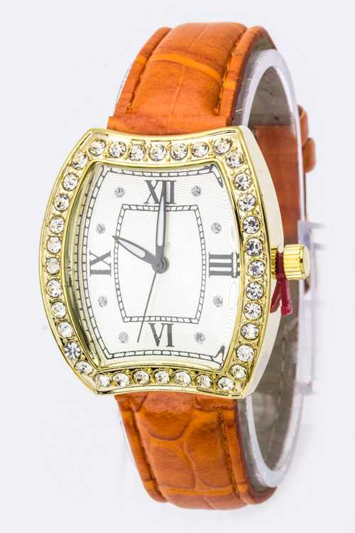 Iconic Crystal Case Fashion Watch