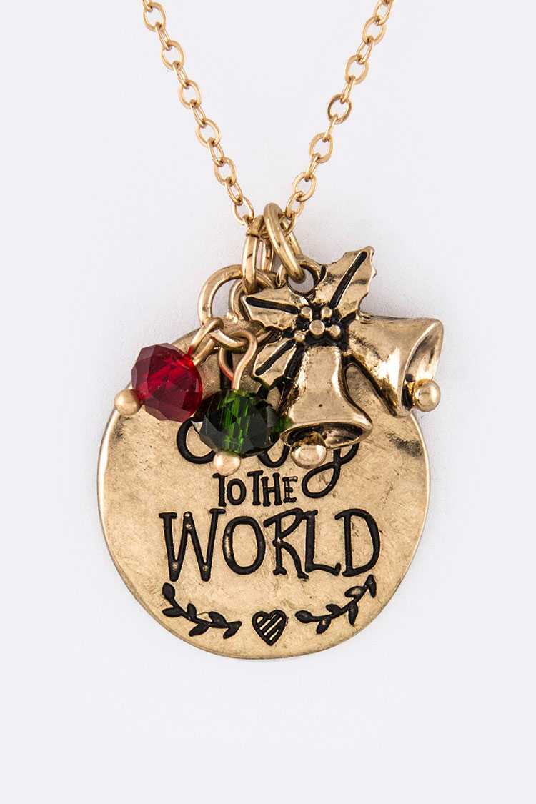 JOY TO THE WORLD Mix Charms Necklace Set