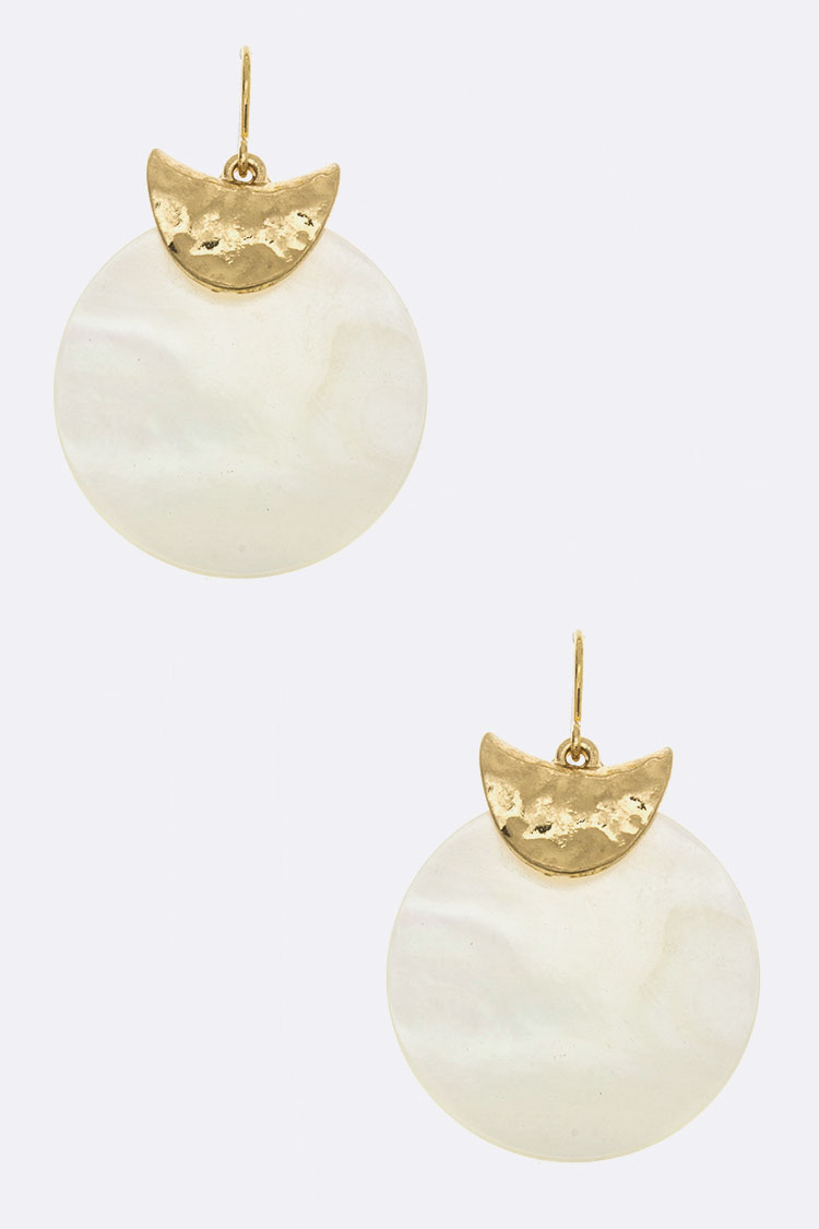 Shell Disk Earrings