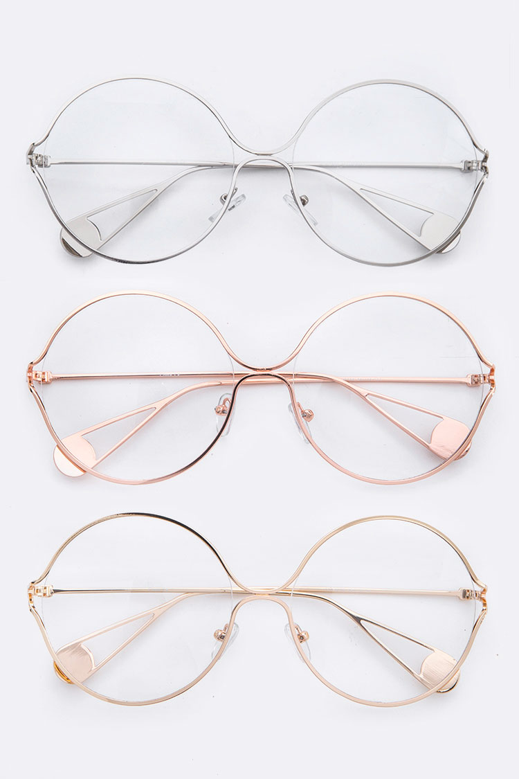 Iconic Oversize Clear Lens Optical Round Glasses