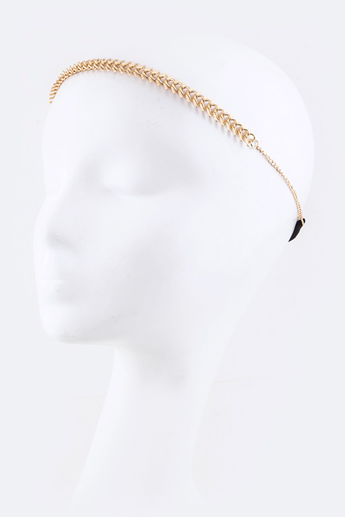 Fishbone Chain Stretch Headband
