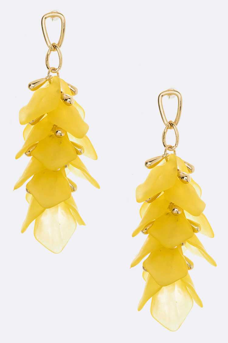 Acrylic Petal Drop Iconic Earrings