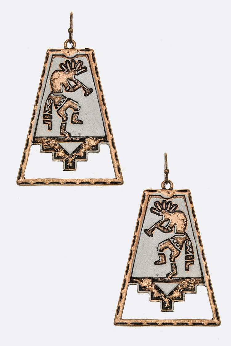 Kokopelli Plate Earrings