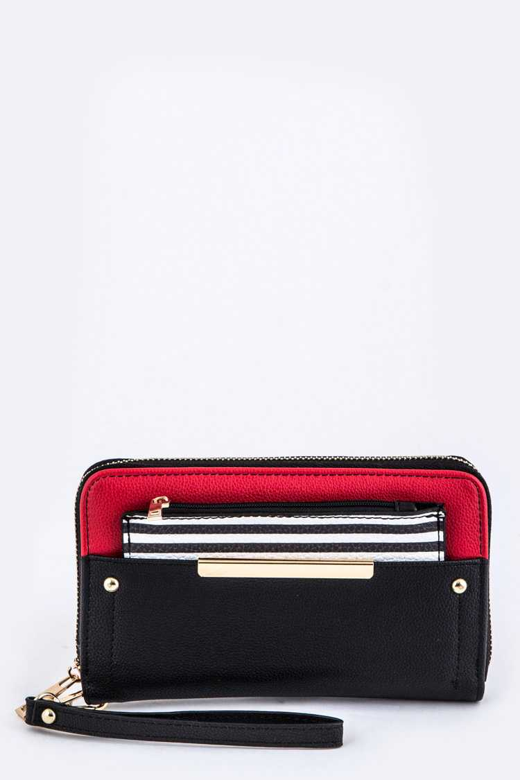 Convertible Wallet With Card & Coin Pouch