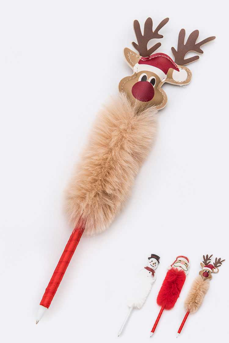 Holiday Plushy Pen Set