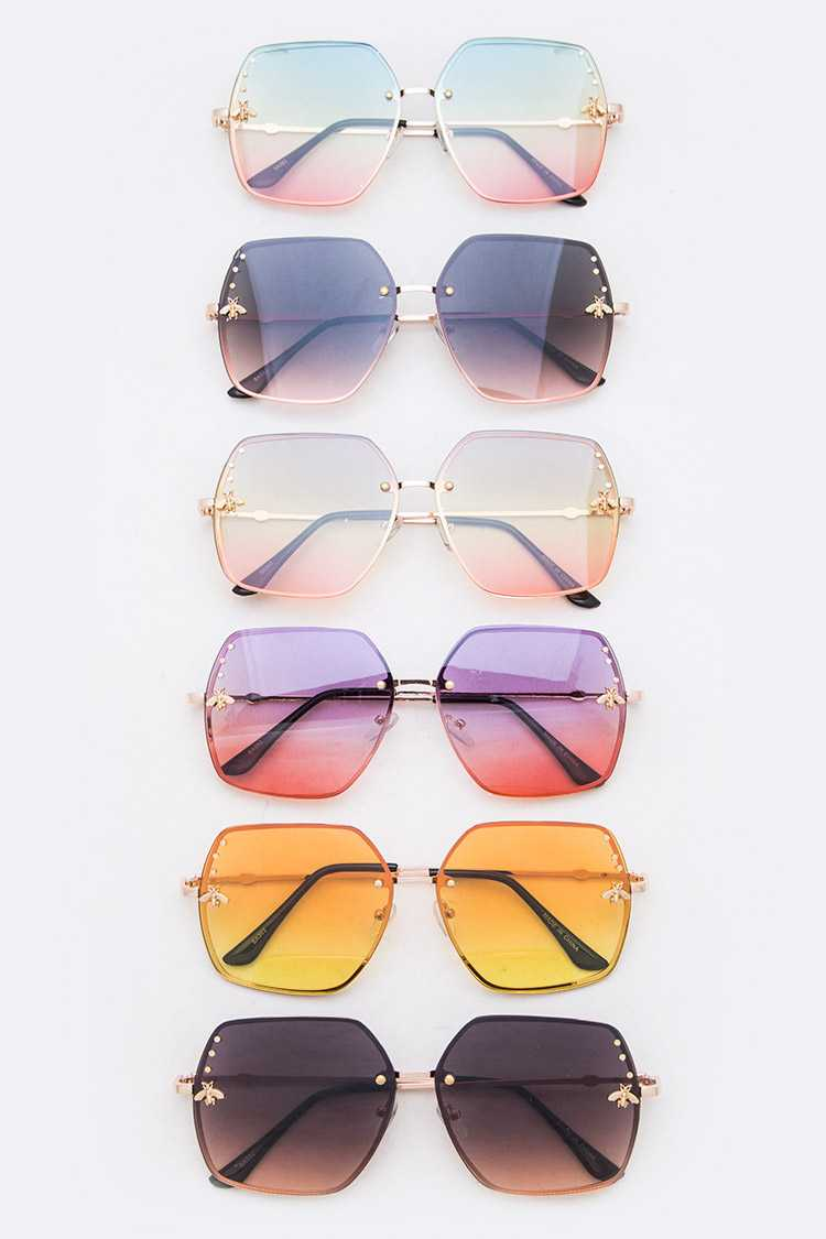 Golden Bee Accent Mix Tint Sunglasses