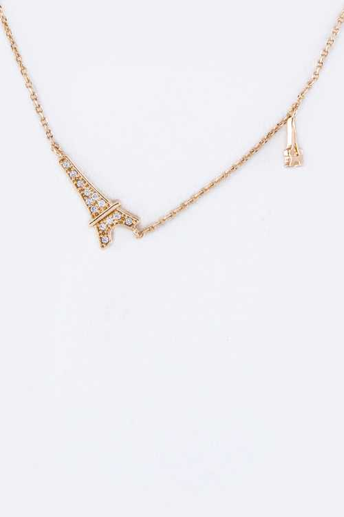 Petite CZ Eiffel Tower Necklace