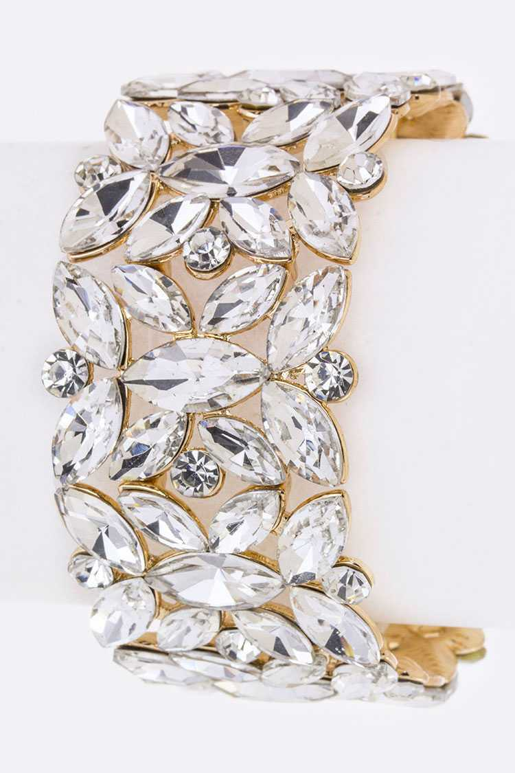 Mix Marquise Crystals Stretch Bracelet