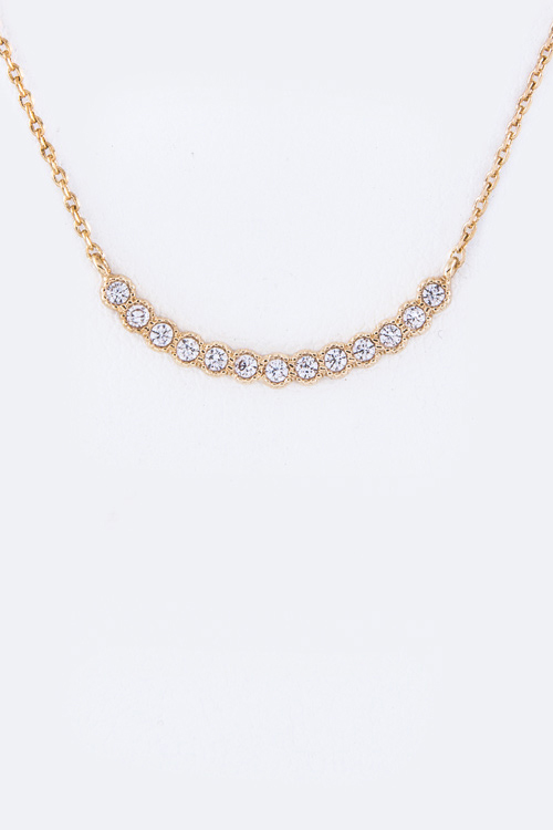 Petite CZ Bar Necklace