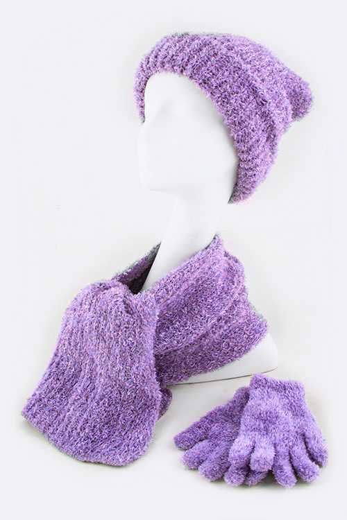 Hat, Gloves & Scarf 3 Pcs Set