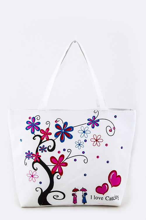 I Love Catcity Fashion Tote