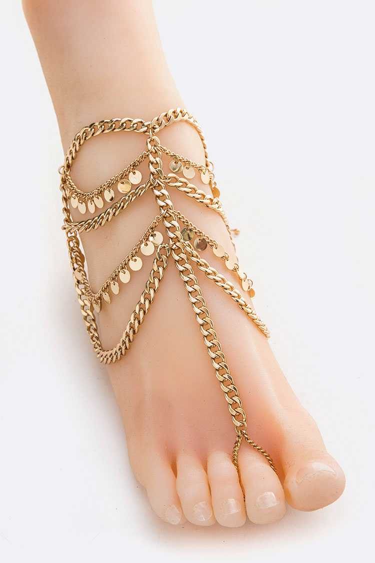 Mix Chain Toe Ring Anklet