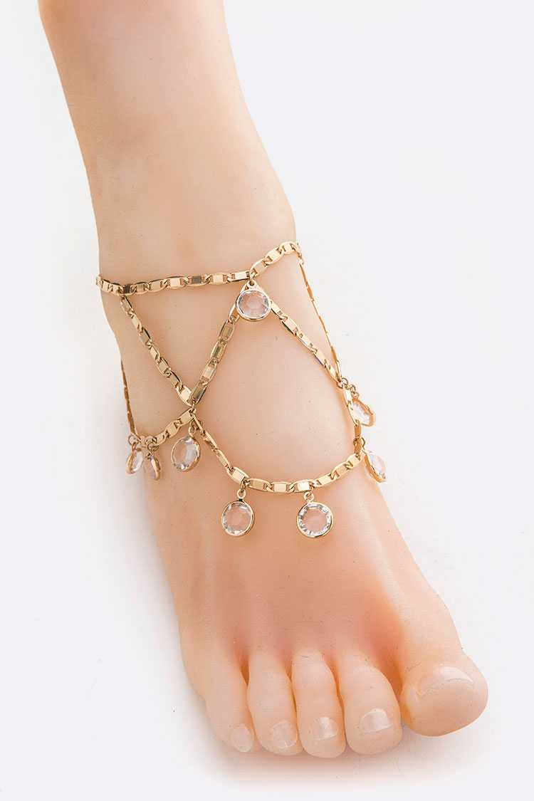 Crystal Drop Anklet