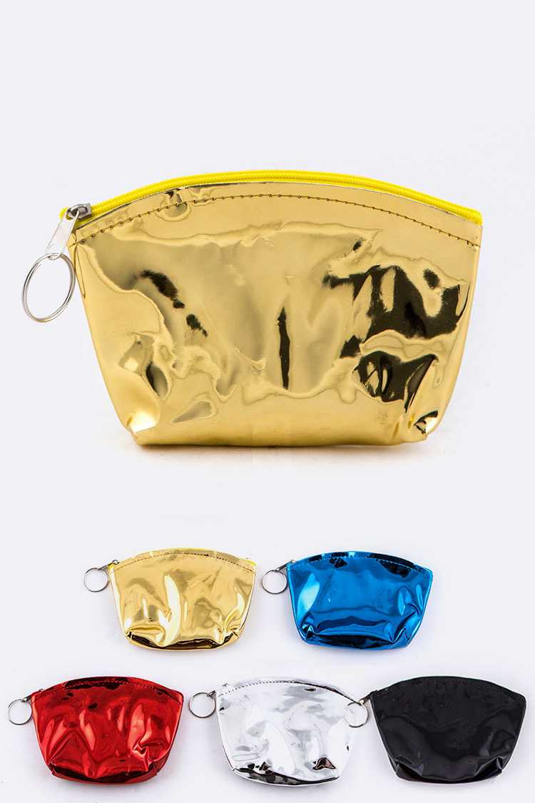 Metallic Coin Purses Set
