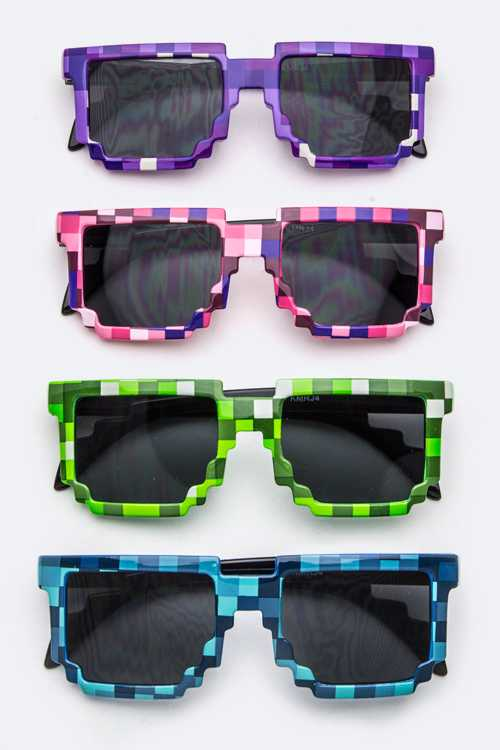 Kids Size Pixel Fashion Sunglasss