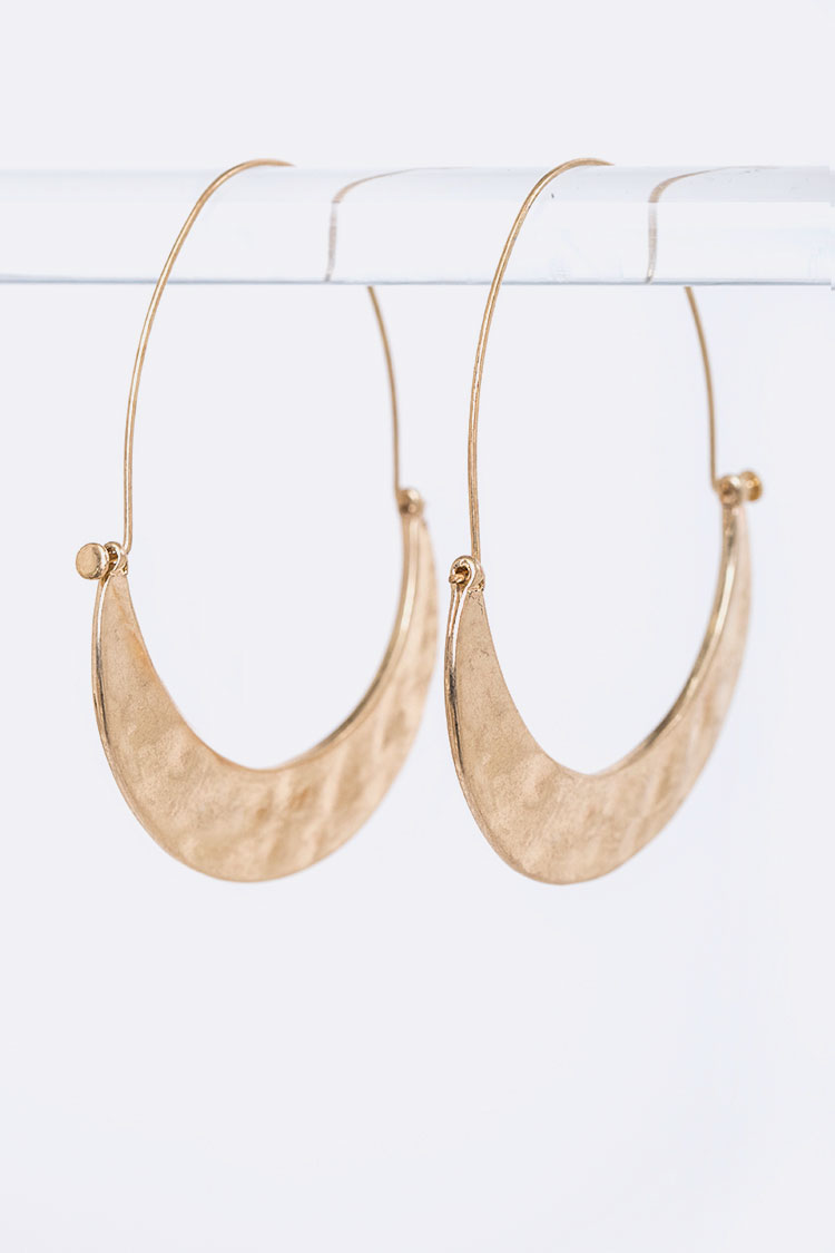 Hammered Iconic Hoop Earrings